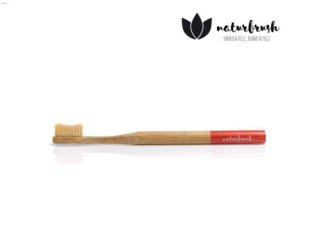 cepillo biodegradable rojo