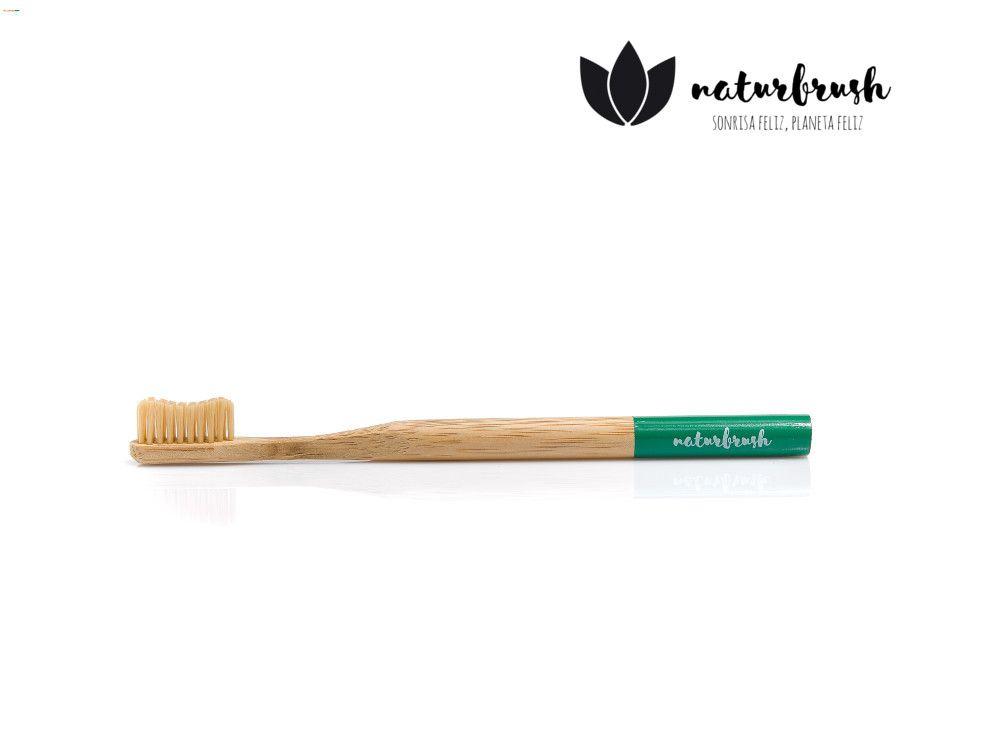 cepillo biodegradable verde