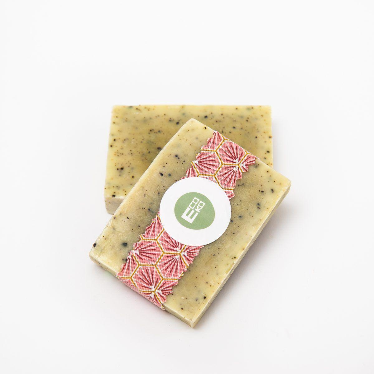 jabón en pastilla de algas bio